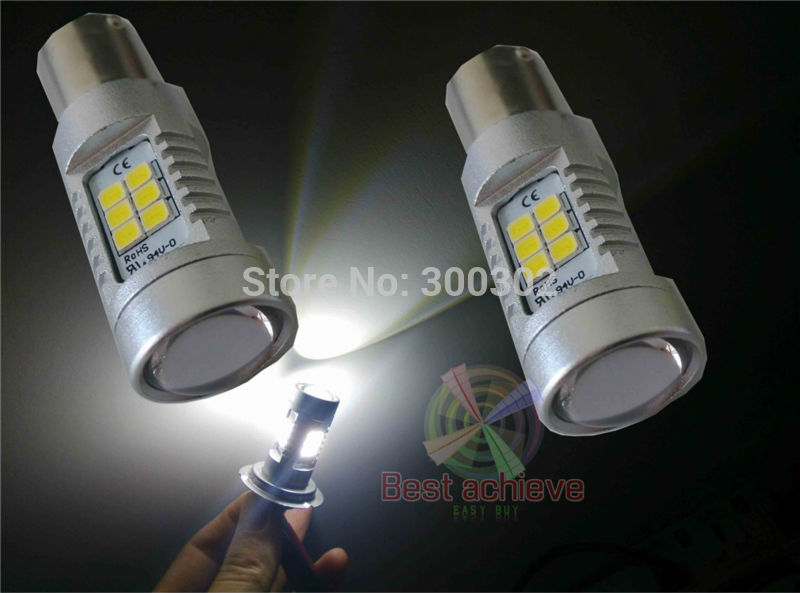 Гаджет  2PCS 1157 BAY15D 80W 800Lumens White Red Yellow amber 21LED 2835 LED Brake Turn Signal Light Bulb bright than 7.5W 20W 30W Cree None Автомобили и Мотоциклы