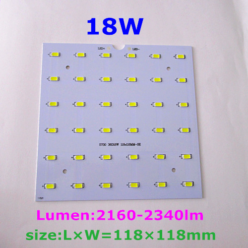 New LED board. 5W 12W 18W 28W 30W 5630 5730 SMD PCB aluminum plate input voltage 85-265v with LEDs installed .free shipping.<br><br>Aliexpress
