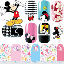 2015 Fashion Nail Stickers Mickey Minnie Cute Art Stickers DIY Decorations Foils Wraps Wholesale Nail Tools 15 Styles 5.7*3inch