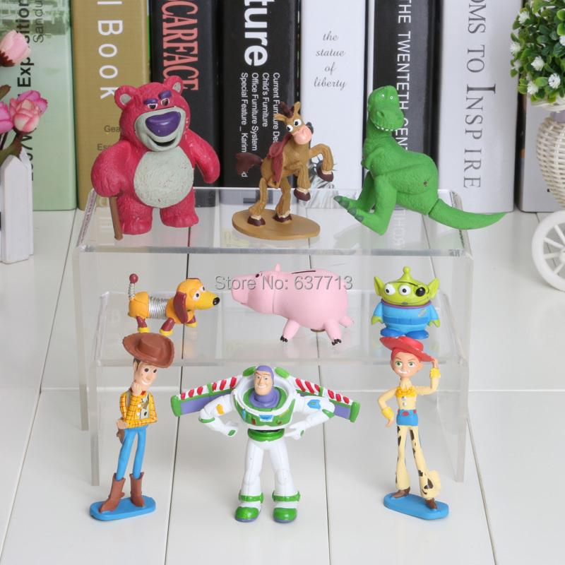 9pcs/set 7-8cm Toy Story 3 Woody Buzz Lightyear Jessie PVC Action Figure Toys Dolls Children Toys(China (Mainland))