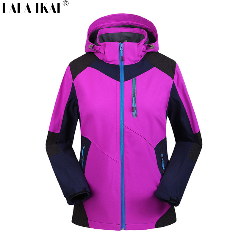Winter Jacket Women Thermal Windproof Softshell Jacket Women Polartec Fleece Outdoor Jacket Warm Waterproof Jacket HWA0114-2<br><br>Aliexpress