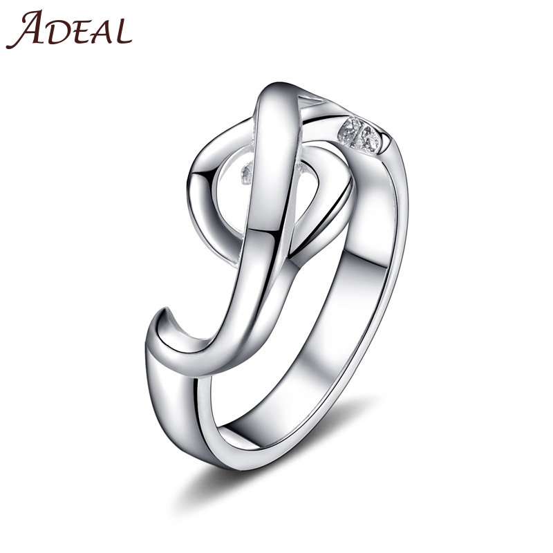 Promotion / Colorfast Silver Plated Ring Special Musical Note Women Fashion Jewelry - AZIZ BEKKAOUI Offical Store store