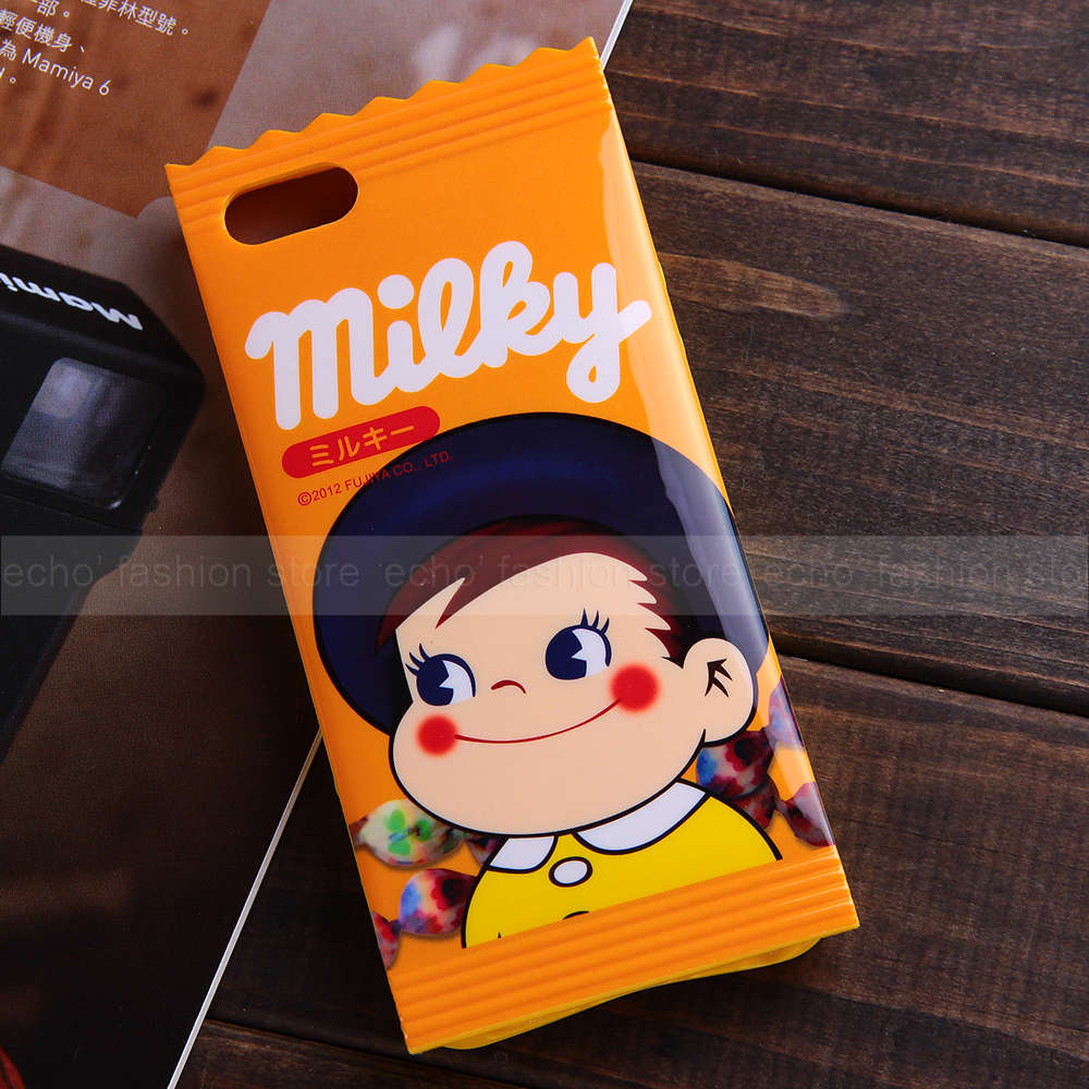 Milky Candy Japanese Cartoon Soft TPU Cases Apple iPhone 5 5s Back Cover Cute Lovely Yellow Kid Girls Gift Box - Online Store 634308 store