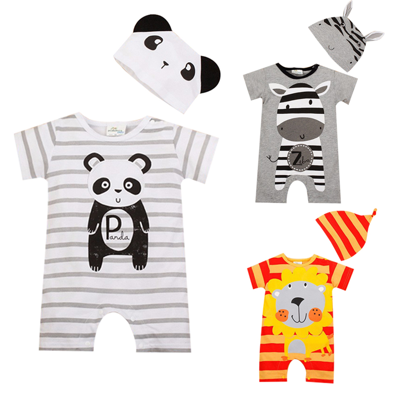 Baby Boy Rompers Summer Baby Girl Clothing Sets Short Sleeve Newborn Baby Clothes Roupa Bebes Infant Jumpsuit Baby Boys Clothes(China (Mainland))