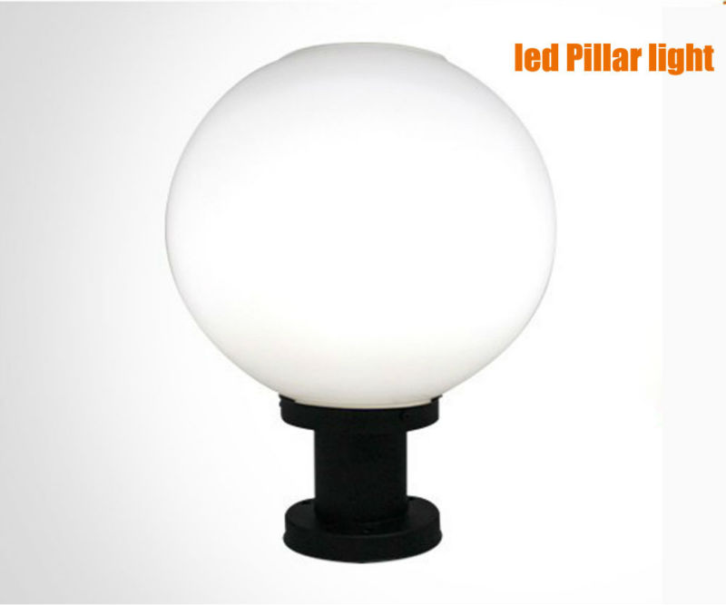 Free shipping globe solar post light pillar lamps ultra for Landscape pillar lighting