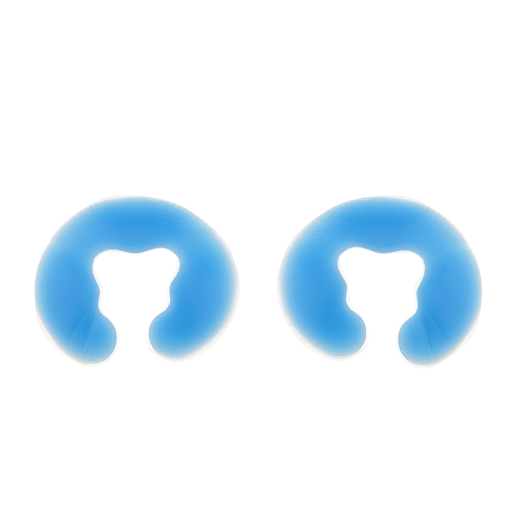 2 Pcs Soft Silicone Face Cushions Spa Massage Headrest for Salon Beauty Blue