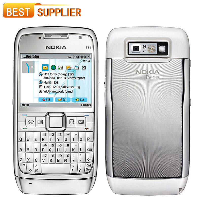 2016 Limited Promotion Color Slim(9mm-10mm) Bar Single Core Gsm/wcdma Original Unlocked Nokia E71 Mobile Phone Gps Wi-fi 3.2mp(China (Mainland))