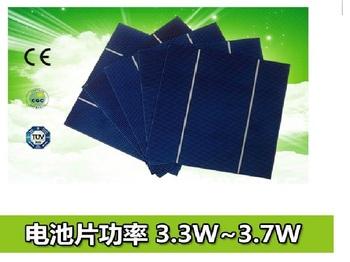 Free Shipping Solar Cell 156mm*156mm(6') polycrystalline 3.30W-3.70W A grade