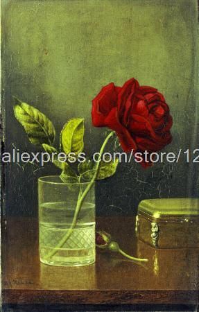Min Johnson Heade Queen Of Roses New On hand painted arts and crafts modern painting High quality gifts free shipping(China (Mainland))