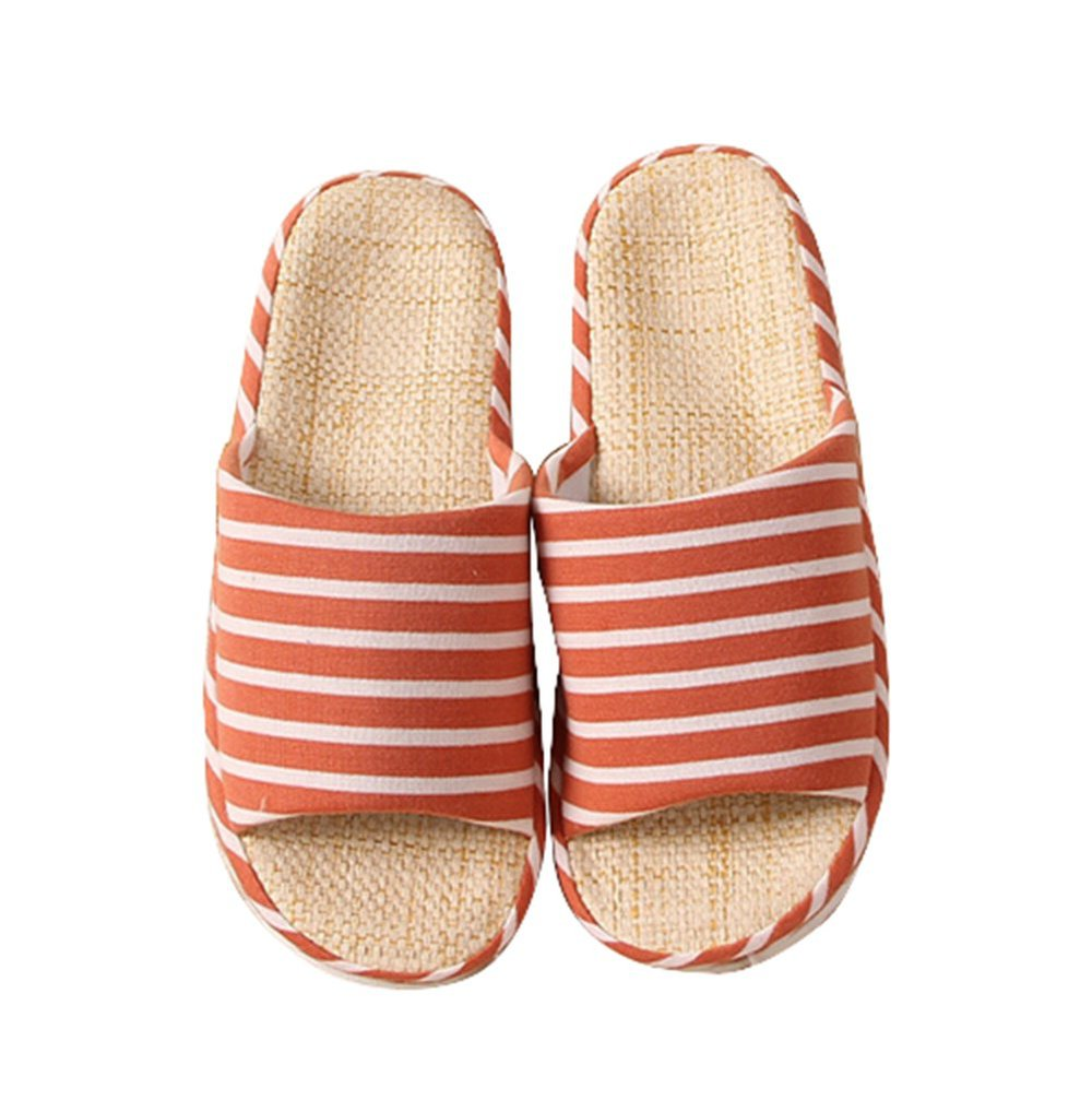 Bronze Times (TM) Unisex Classic Zebra Stripe Indoor Cotton Flax House Slippers(China (Mainland))