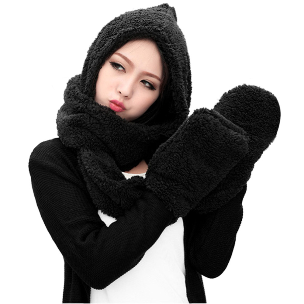 Women's Hats New Fashion 2015 Winter Accessories Set ...