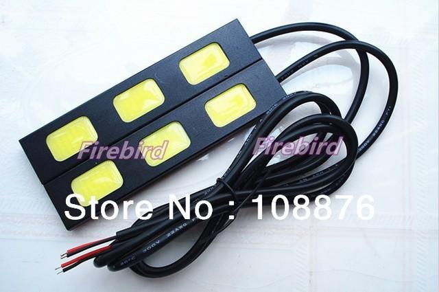 9W 3COB*2 led Daytime running lights, cold white fog lamps or reversing light, E4 waterproof, free shipping