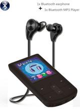 8GB bluetooth MP4 player + Bluetooth headphones, bluetooth sport earphone wireless earbuds + bluetooth Mini sport MP4 players(China)