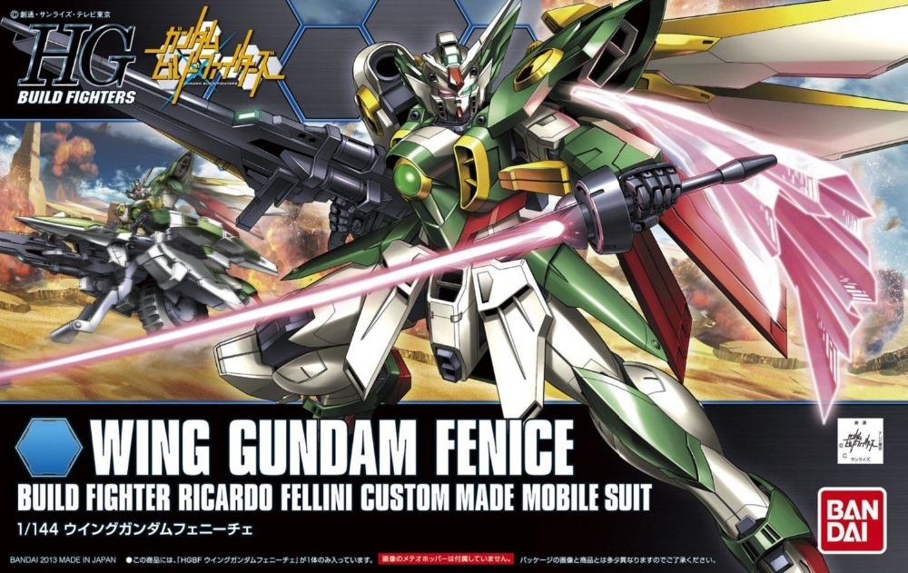 Bandai HG Build Fighters Gundam HGBF 006 1/144 Wing Gundam Fenice Model Kit Free Shipping #85149(China (Mainland))