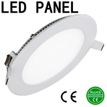 Round 3w 4w 6w 9w 12w 15w 18w led Panel lights AC 85-265v led lamps 110V 220V IC Drive power(China (Mainland))