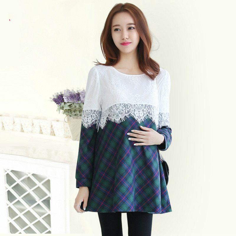 Korean yards Maternity fall and winter clothes / lace ...