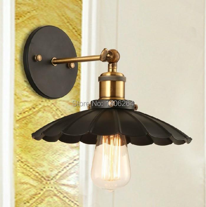 Vintage Umbrella lamp Edison RH loft Industrial (22cm) Ceiling Wall light Two way USE Cafe Bar Coffee Shop Store Club(China (Mainland))
