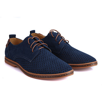 2015 New Arrival Spring Autumn Fashion Leisure Big Size Breathable Suede Split Men's Oxford Shoes Lace Up Low Top Shoes 7 Colors