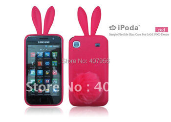 Free shipping! For Samsung Galaxy S I9000 I9008 I9001 T959 Rabbit silicone cartoon TPU case 1pcs min order