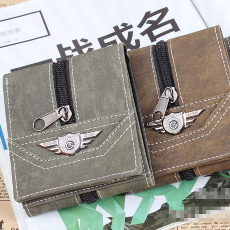 2014 New Korean Fashion Casual Top Quality Men Canvas Small Billfold Wallets Vintage Male Brand Purse #L09244<br><br>Aliexpress