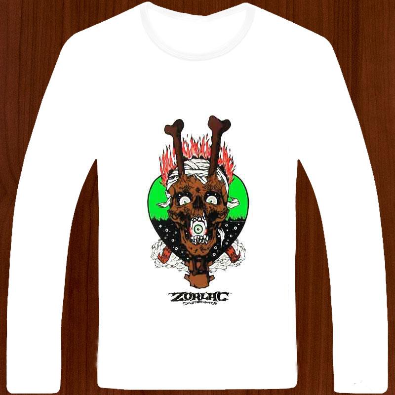 free shipping zorlac bones thru skull vintage skateboard o