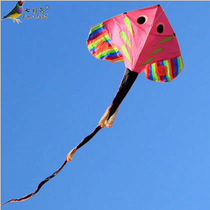 NEW High Quality Single Line Power Fish Kite With 4m Long-Tail /Send Handle And Line Good Flying(China (Mainland))