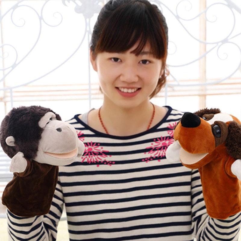 Nici plush hand puppet Giraffe hedgehog chimpanzee dog donkey monkey sheep soft stuffed plush toy Hand puppet kids appease doll(China (Mainland))