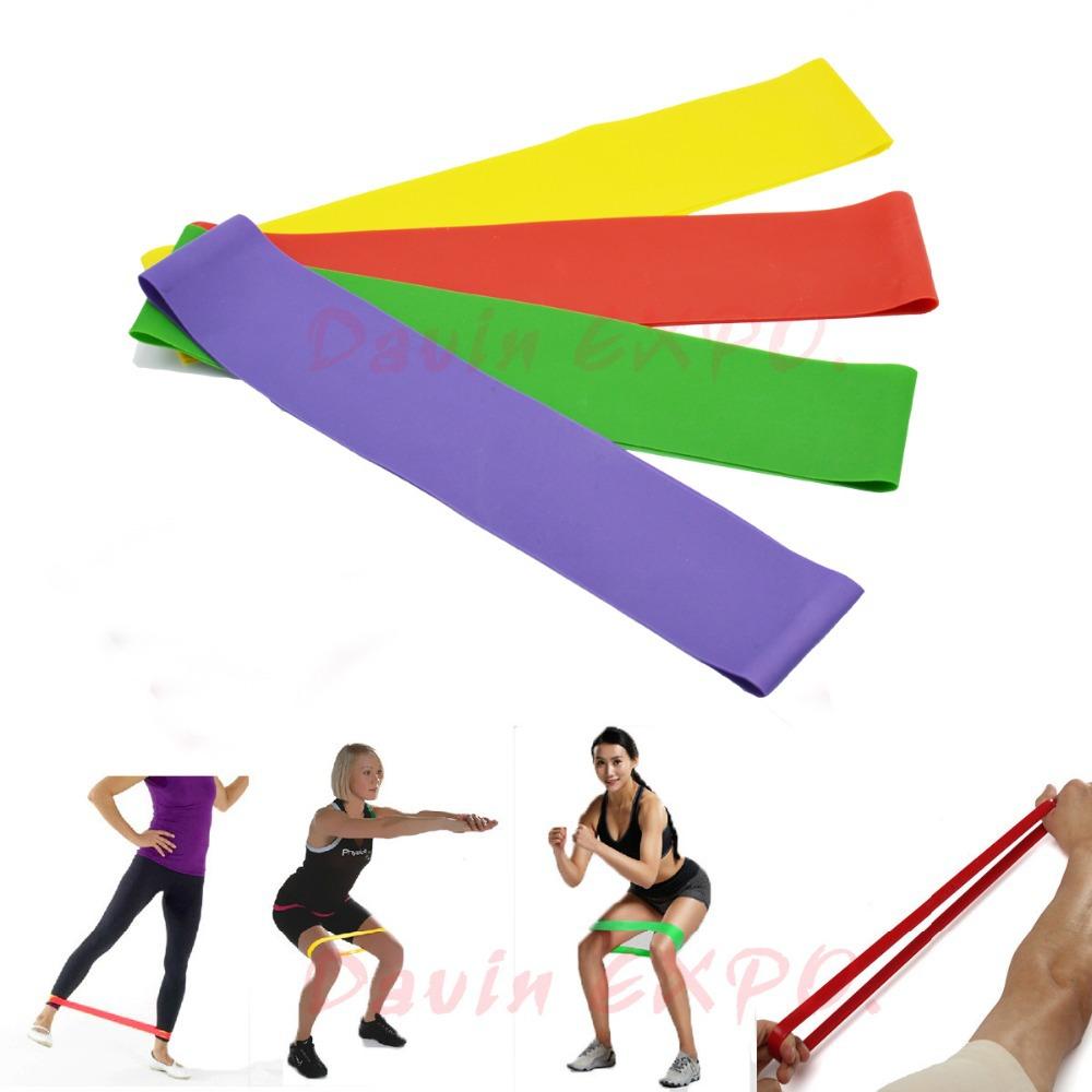 New 4pcs Resistance O-LOOP MEGA KIT Exercise Stretch Bands Gym Workout Elastic Loops Yoga Fitness Bands(China (Mainland))