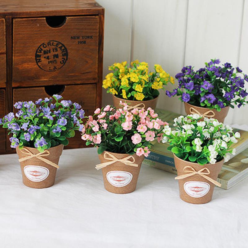 Горшечные цветы в подарок 53