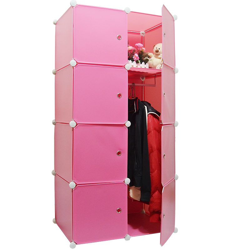Wardrobe wardrobe simple combination storage cabinet steelframe 2 4 hanging clothes cabinet<br><br>Aliexpress