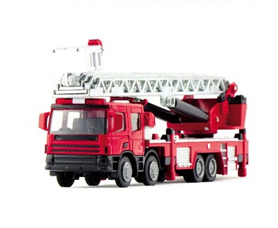 Alloy engineering car model water pot ladder fire truck toy car cars(China (Mainland))