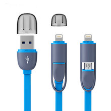High Quality 8pin 2 in 1 Micro USB Cable Sync Data Charger Cable For iPhone 5 6 6S Plus Samsung S3 S4 S5 Android Phone(China (Mainland))