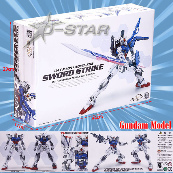 Cool Gundam MG GAT-X105 + AQME-x2 Sword Stike Freedom DIY Assembly Model Fighter Toy Gift Boxed