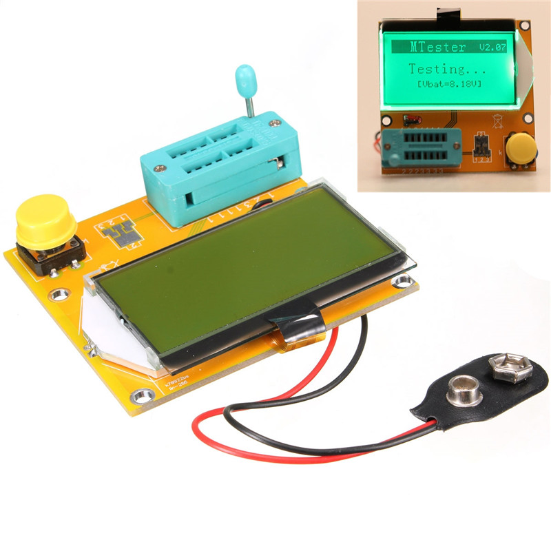 High Quality Newest Diode Triode Capacitance ESR Meter MOS PNP LCR T3 Transistor Tester LCD Display(China (Mainland))