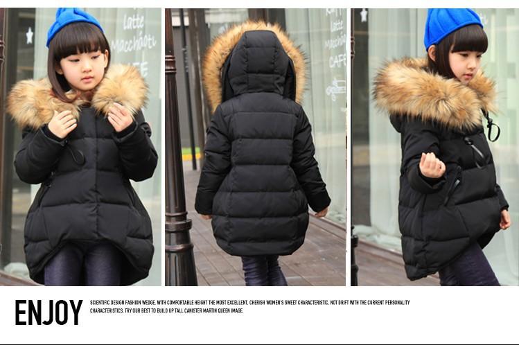 Скидки на Autunm / зима дети в одежда верхняя одежда парки вниз куртка для девочки дети в одежда белый утиный пух