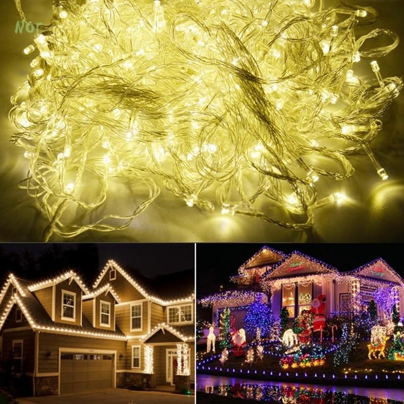 100M 600 LED Garland Lights Led Christmas Decoration Holiday Wedding Lamp Party Twinkle String Light 220V EU luz da corda(China (Mainland))