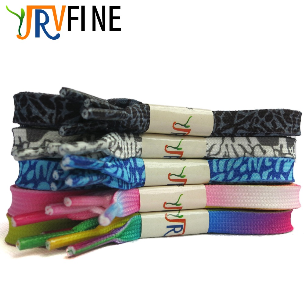 YJRVFINE 10 PairFashion British Style Double Layer Hollow Shoelaces Gradient Shoe Laces Zebra Printed Flat Shoelaces Shoes Lace(China (Mainland))