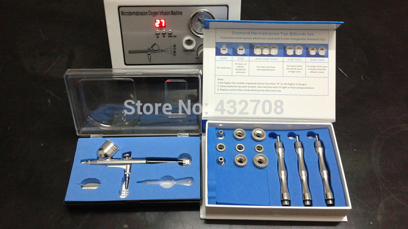 New arrival skin oxygen peeling body and facial massage machine(China (Mainland))