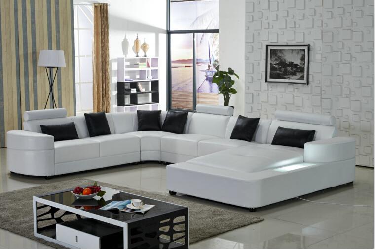 Living room sofa with modern design leather sofa for Sofa set living room furniture(China (Mainland))