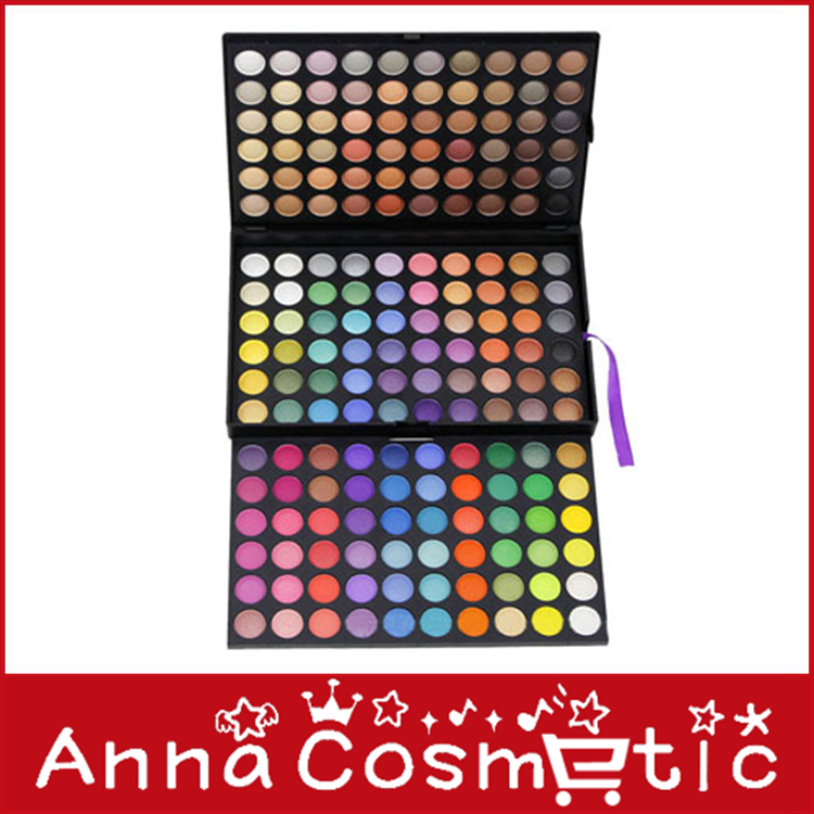 12PCS/LOT 180 Color Eyeshadow Eye Shadow Makeup Make Up Palette Kit wholesale free shipping(China (Mainland))