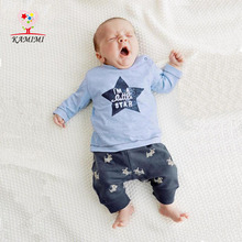 Buy KAMIMI 2017 Sets 0-2 Years Newborn Baby Boys Girls Summer Star t shirt t+ Rabbit Short 2 Pieces Sets Casual Clothing XYM405 for $12.60 in AliExpress store