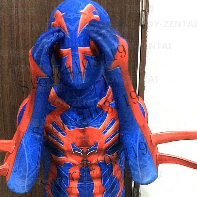 Linglong-150 High Quality Custom Made Spider Man 2099 Cosplay Costume Suit Spider Man Spandex Costume Hero SuitОдежда и ак�е��уары<br><br><br>Aliexpress