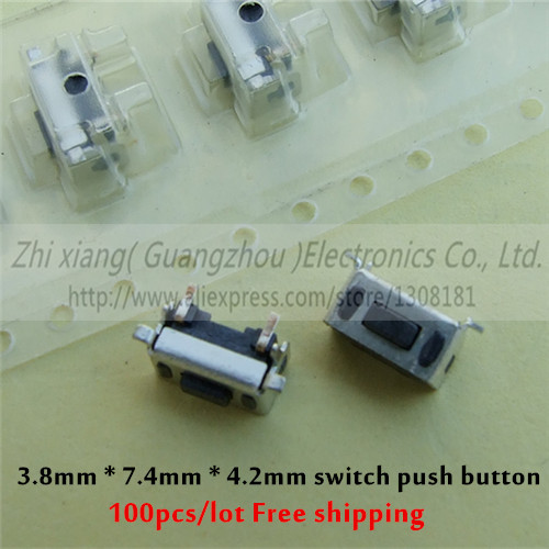 100pcs lot 3 8mm 7 4mm 4 2mm switch push button micro switch for Tablet PC