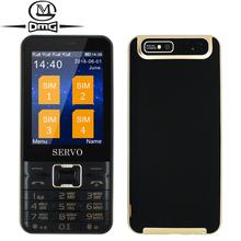 "Quad Sim card Russian keyboard mobile phone Original SERVO V8100 Quad standby 2.8"" Quad Band Flashlight GPRS camera MP3 MP4 FM(China (Mainland))"