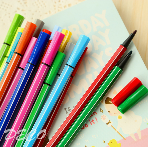12pcs/lot, Water color pen brush Marker for kids school stationery, Highlighter for art supplies (ss-a792)<br><br>Aliexpress