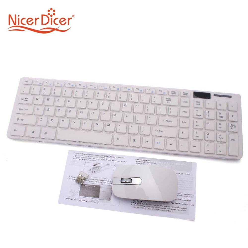 1set 2.4G White Wireless PC Keyboard +Mouse Keypad Film Kit Set For DESKTOP PC Laptop Free Shipping 80426(China (Mainland))