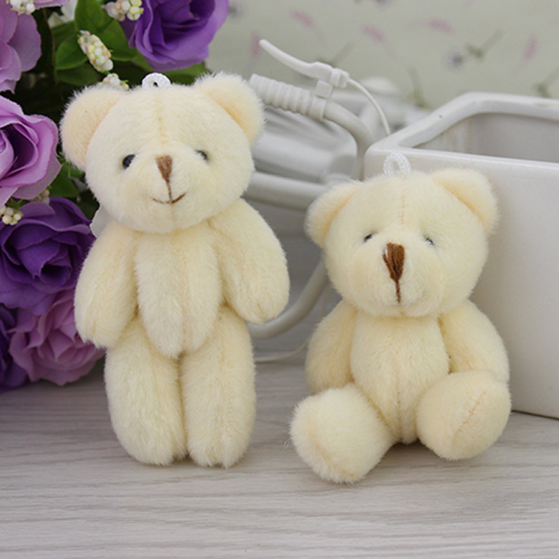 50PCS/LOT Kawaii Small Joint Teddy Bears Stuffed Plush 8CM/3.2'' Toy Teddy-Bear Mini Bear Ted Bears Plush Toys Wedding Gifts 090(China (Mainland))