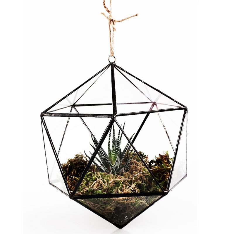 Hanging Modern Artistic Clear Glass 6 Angles U0026 22 Sides Glass Plant  Terrarium / Decorative Votive