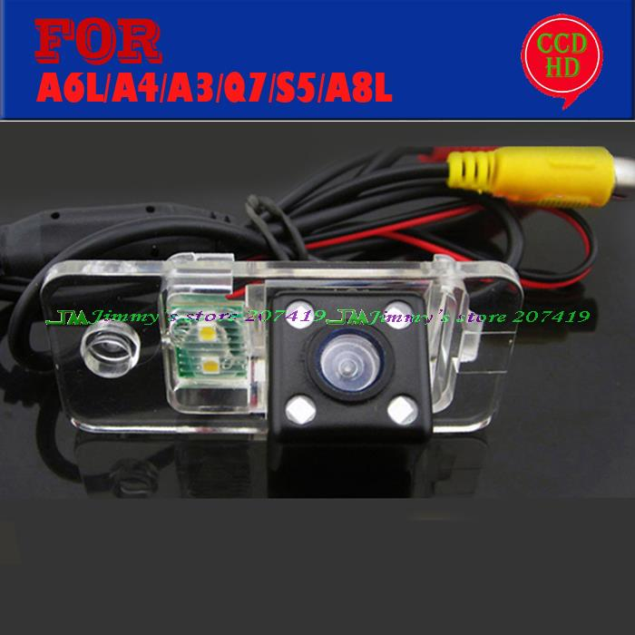 wired wireless CCd LED car night vision camera for AUDI A1/A4L/A6L/Q3/Q5/TT/A4/A6/RS5/A8L/Q7/S5 ...