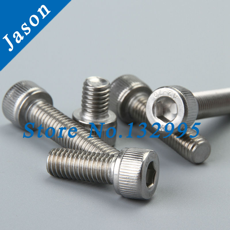M3*50  DIN912  Stainless Steel A2 Hex Socket Head Cap Screw (SUS 304 DIN912 M3*L)<br><br>Aliexpress